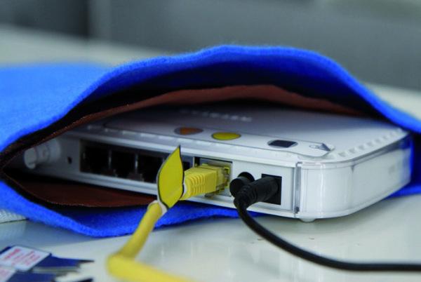 WLAN-Dimmertasche für Router ohne Antenne