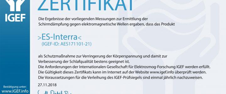 IGEF-ZERTIFIKAT-AES-2018-2
