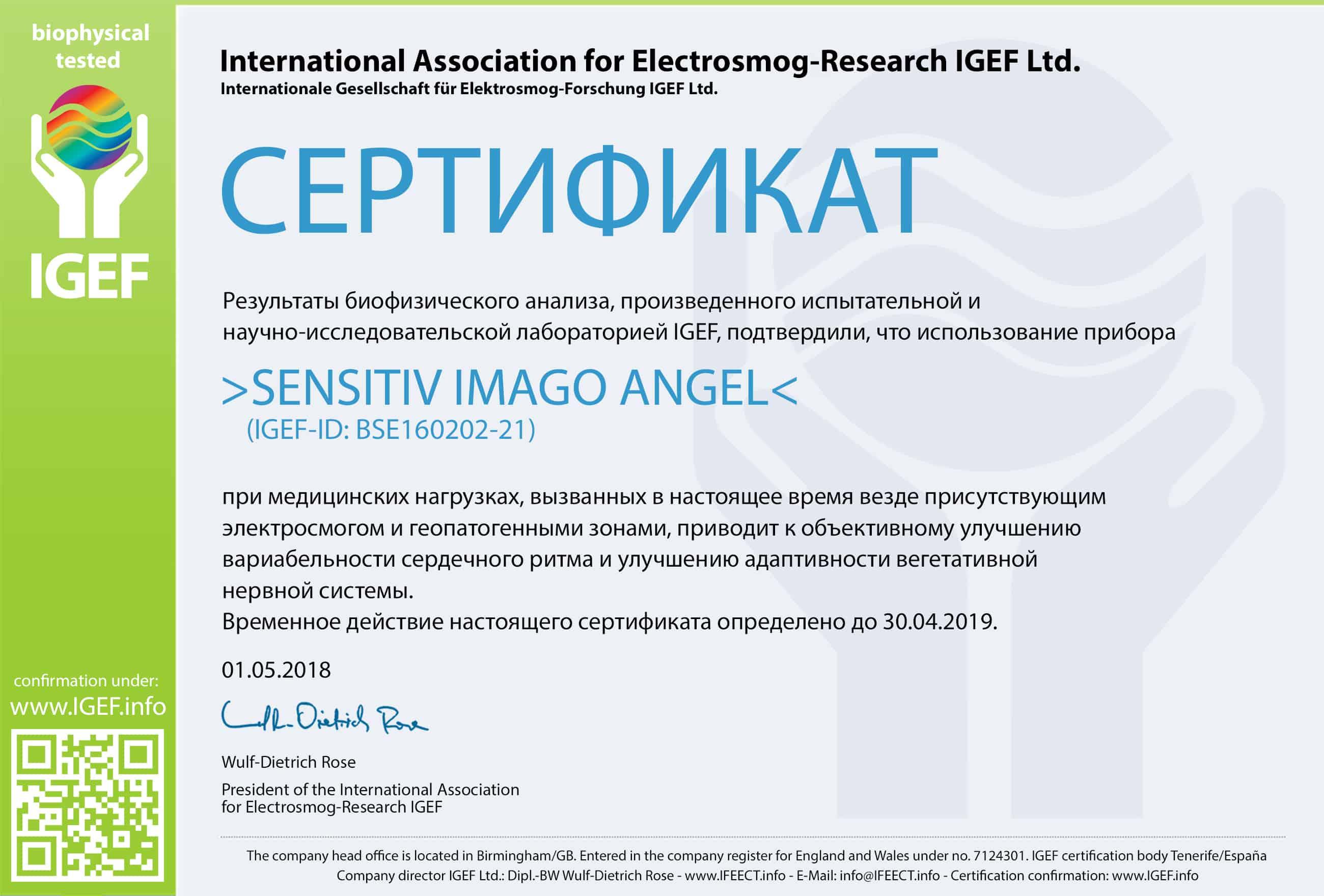 IGEF-ZERTIFIKAT-BSE-RU-18