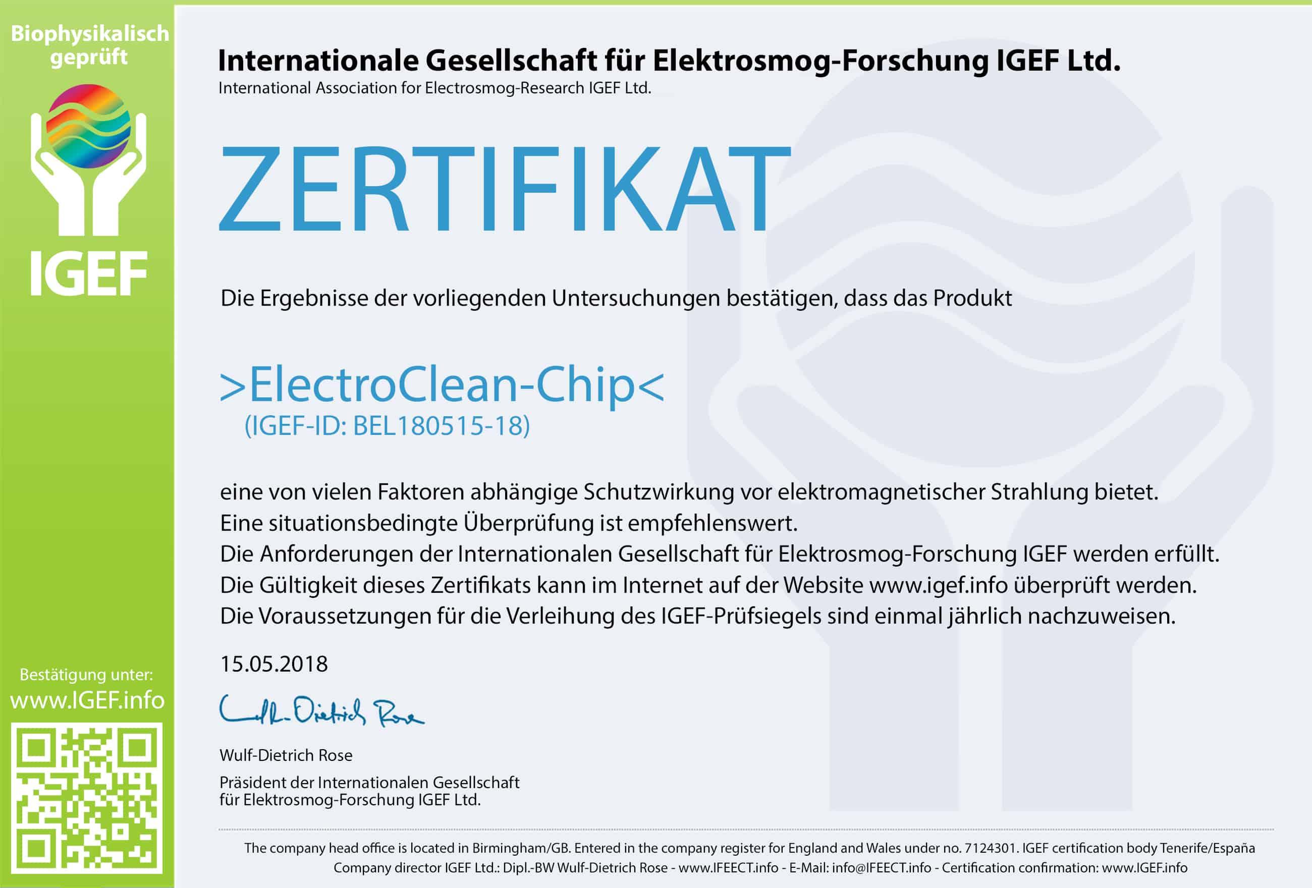 IGEF-Zertifikat-BEL-DE-18