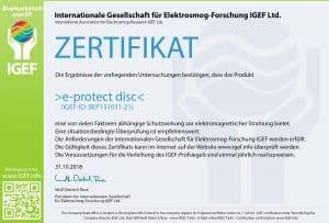 IGEF-Zertifikat-BEP3-DE-18-1