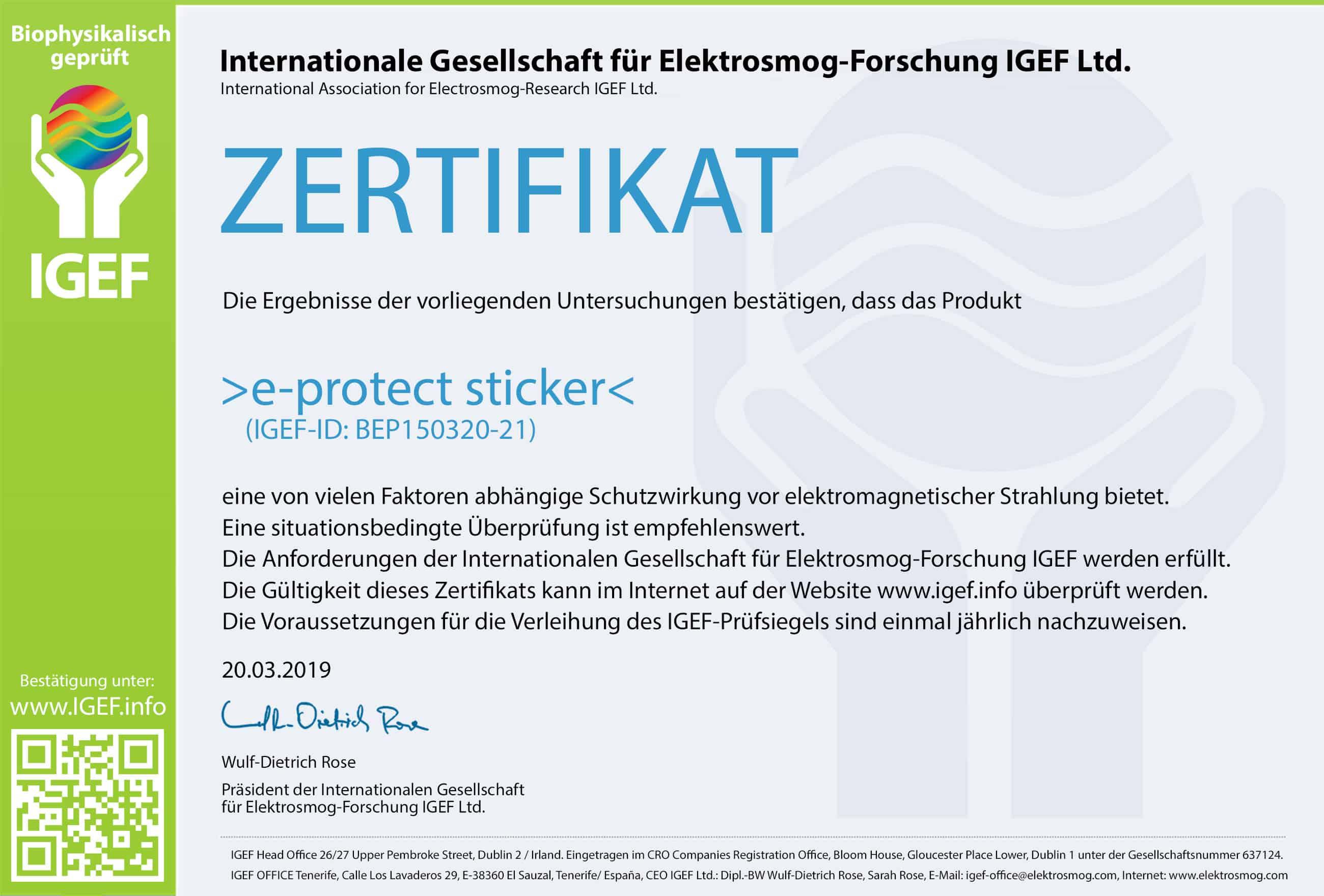 IGEF-Zertifikat-BEP1-DE-19